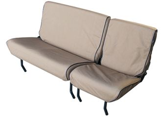 Canvas Seat Covers - Defender 60/40 Split Bench Seat (4 Piece) - Pre 2007 - Sand