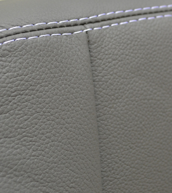 Grey Leather / White Stitch