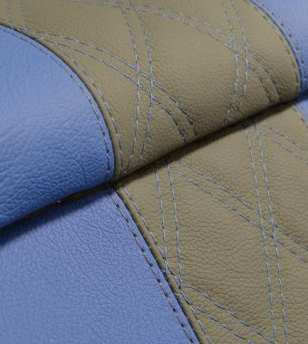 Diamond Grey & Cornflower Blue Leather