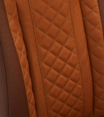 Harvest Smooth Diamond XS Leather with Burnt Orange Smooth Leather