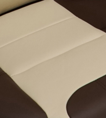 Smooth Oyster Leather with Chestnut Leather