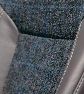 Bespoke Harris Tweed with Buffalo Grey Leather