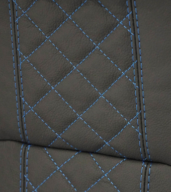 Diamond XS Bespoke Leather Electric Blue Stitch
