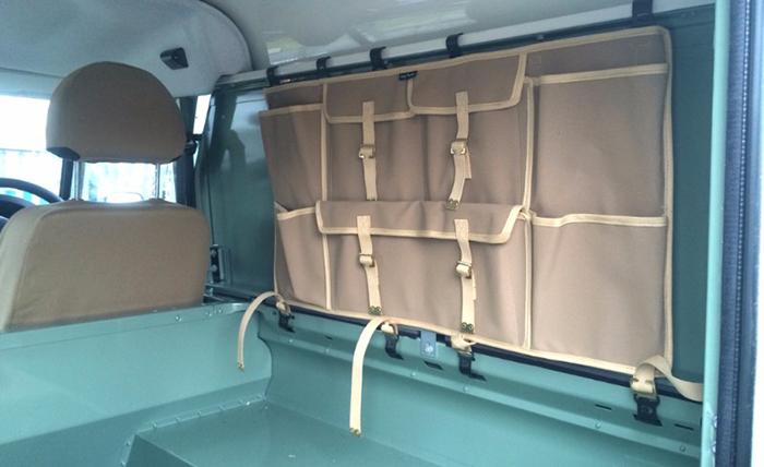 Land Rover Canvas Side Storage Bag in Sand Canvas Exmoor Trim