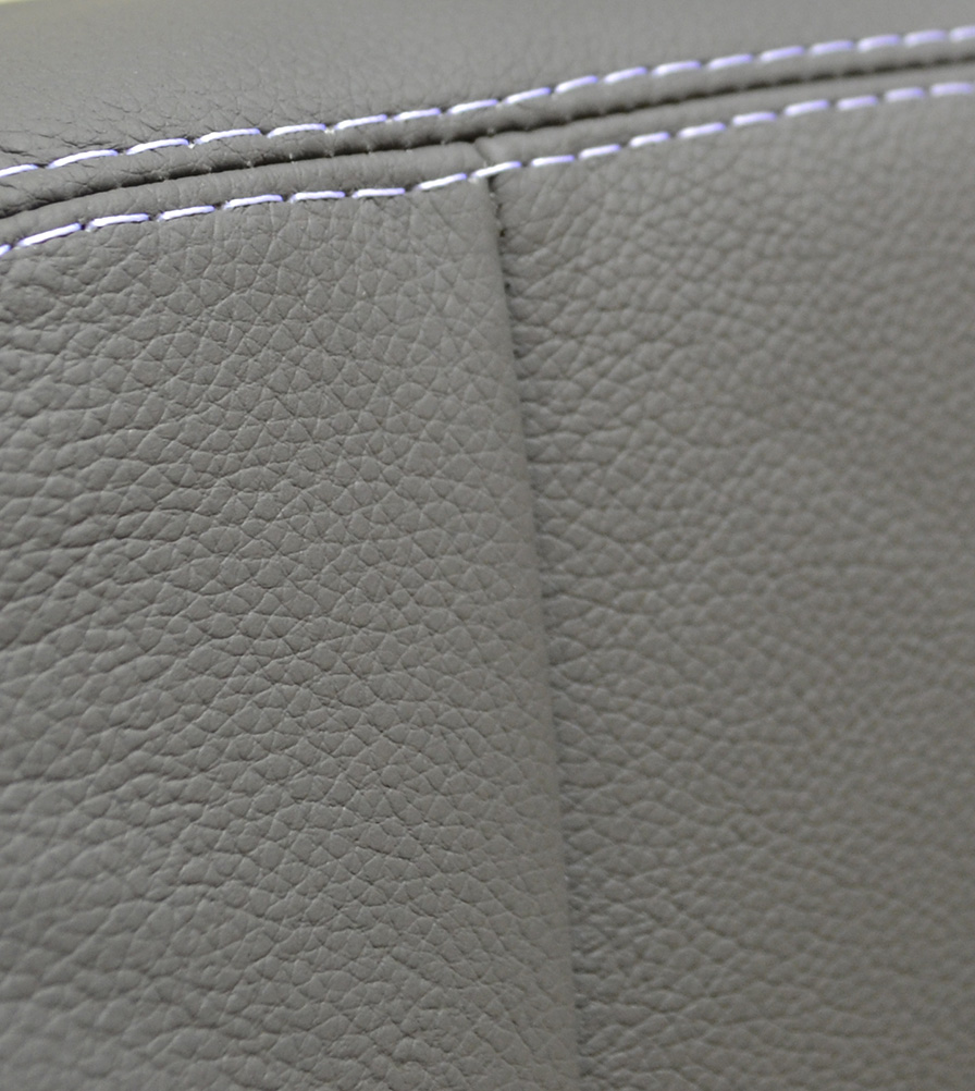 Exmoor Trim Grey Leather Bespoke Swatch
