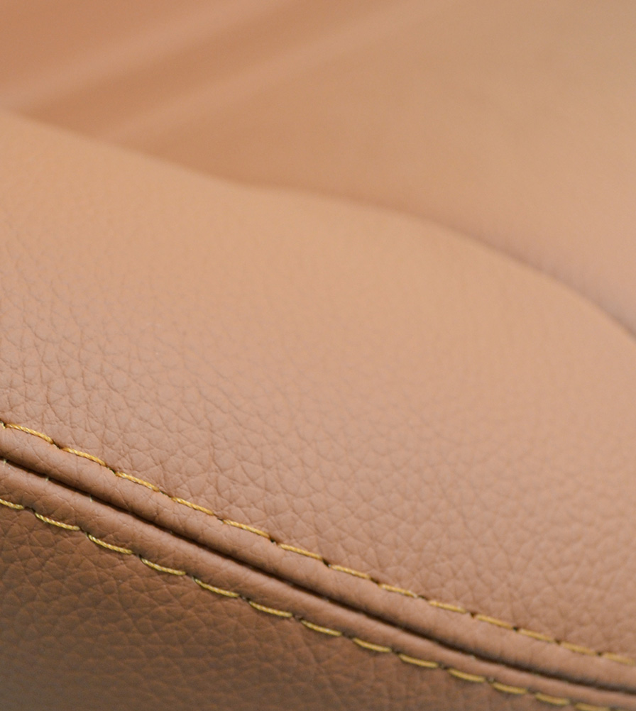 Exmoor Trim Saddle Tan Leather Bespoke Swatch
