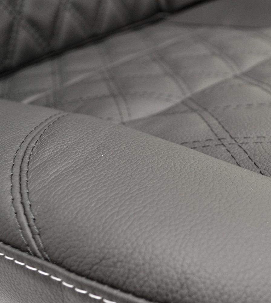 Exmoor Trim Diamond Black Leather Bespoke Swatch