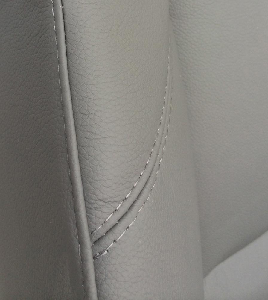 Exmoor Trim Grey Leather Defender Swatch