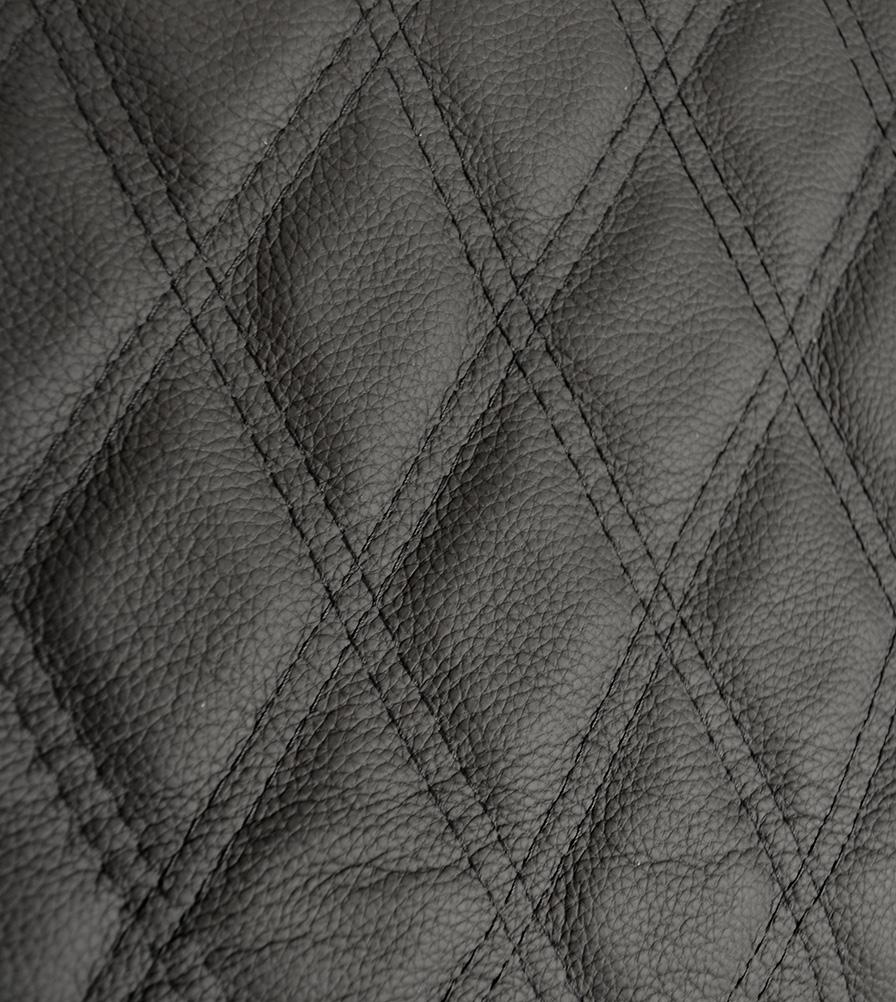 Exmoor Trim Diamond Black XS Leather Defender Swatch