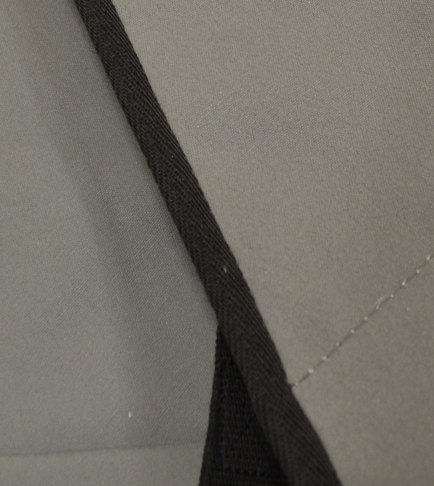 Exmoor Trim Grey Hooding Canvas Swatch