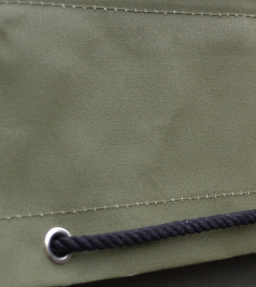 Exmoor Trim Olive Hooding Canvas Swatch