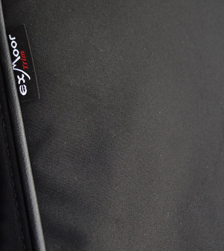 Exmoor Trim Black Canvas Seat Cover Swatch