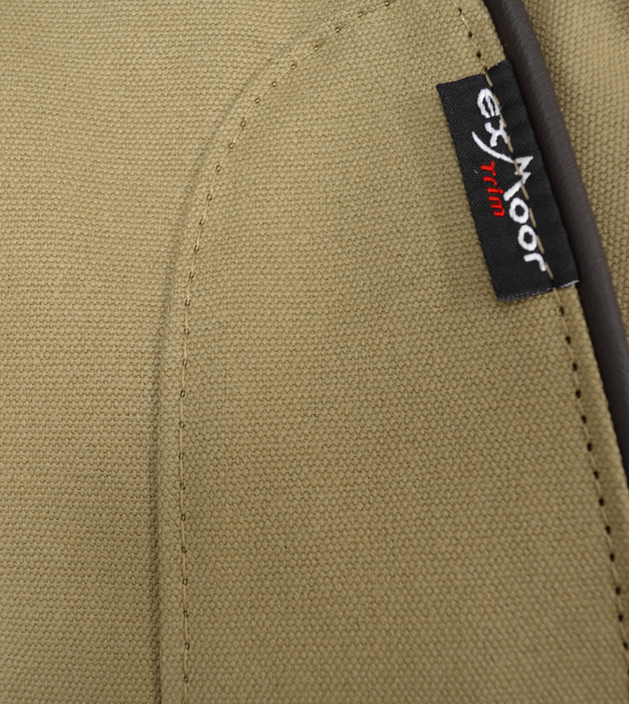 Exmoor Trim Sand Canvas Seat Cover Swatch